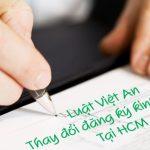 Thay đổi đăng ký kinh doanh tại HCM